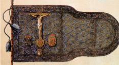 Estandarte que sirvió como insignia de la armada de La Liga Santa