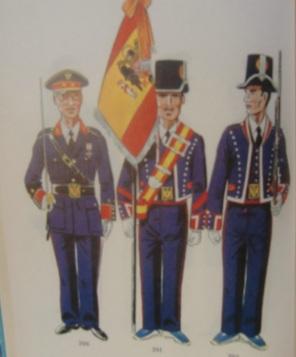 Curioso dibujo de MOzo de Escuadra, en 1950, con bandera franquista.