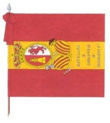 Bandera rojigualda sitio Gerona