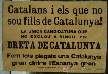 dreta cataluña