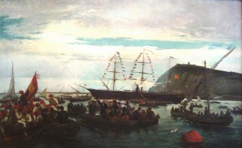 Embarque voluntarios catalanes - Ramon Padró i Pijoan