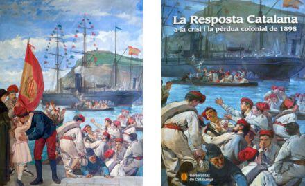La manipulació nacionalista retalla de forma conscient la bandera espanyola.