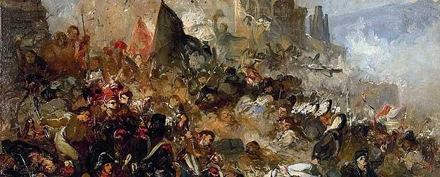 Els-setges.-Defensa-de-Gerona-contra-los-franceses-en-1809-.-Óleo-sobre-lienzo-1865.-Ramon-Martí-i-Alsina-Pintor-realista-catalán