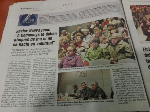 """Presentación en Oviedo de """"Los (Des)controlados de Companys"""""""