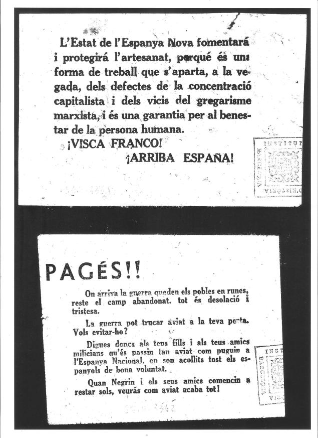 Prpaganda nacional en Catalán