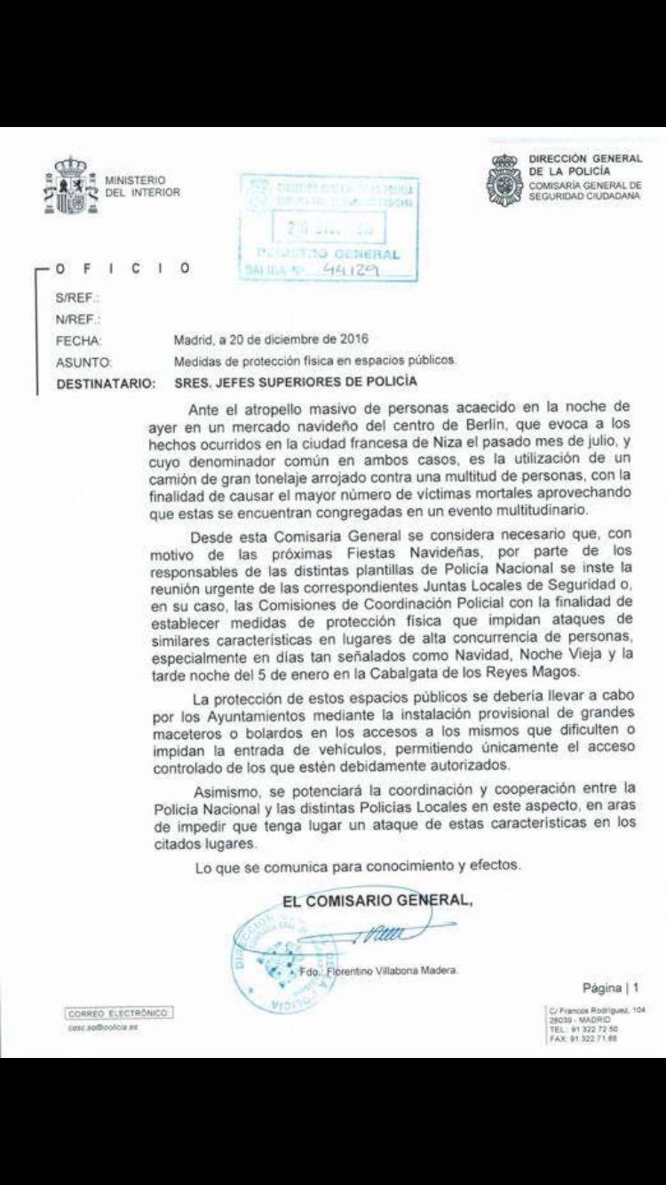 Hace meses un comisario de Madrid, pedía colocar bolardos en lugares estratégicos de toda España