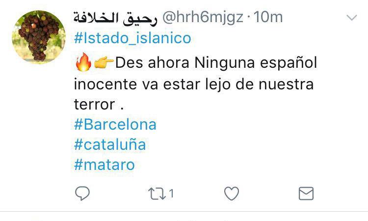 ¿Tolerancia? … lo que corre por las redes islamistas sobre el atentado de Barcelona