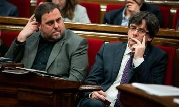 España: Puigdemont y Junqueras encabezan lista de Junts per Catalunya