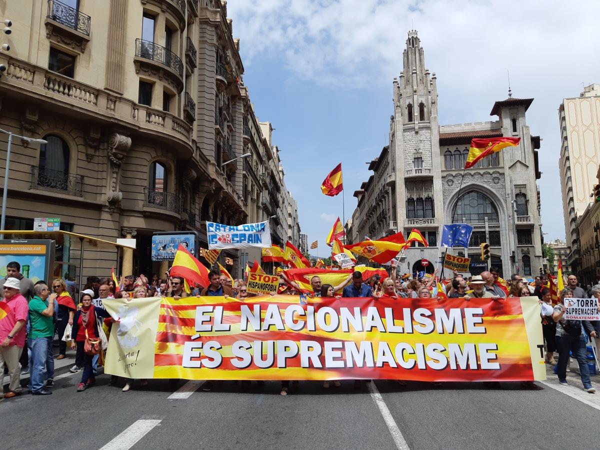 SOMATEMPS: Las asociaciones vuelven a las calles para denunciar el supremacismo nacionalista (Galería de fotos)