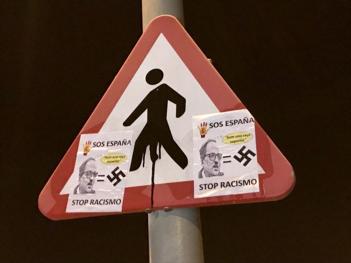 Cataluña amanece con una campaña contra el supremacista Kim-Torra (Galería fotos)