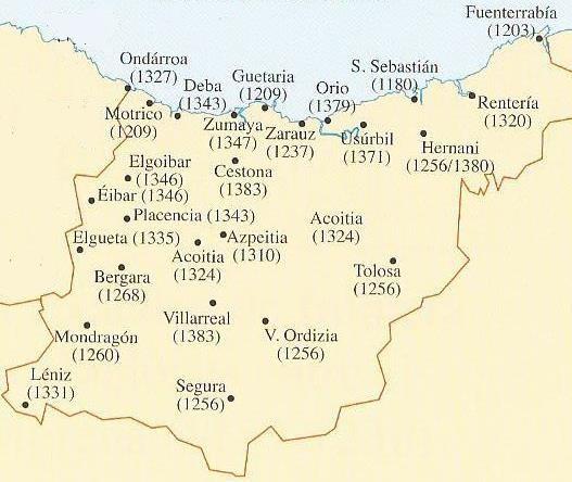 FUNDACIÓN DE VILLAS EN GUIPÚZCOA