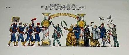ANTIGUO-RECORTABLE-DEL-REGRESO-A-GERONA-DE-LOS-VOLUNTARIOS-CATALANES-DE-LA-GUERRA-DE-AFRICA-DIA-14-DE-MAYO-DE-1860-Imprenta-Pla-Dalmau-de-Gerona-295-x-395-cms.jpg