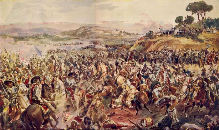 Batalha_de_Montes_Claros_(Roque_Gameiro,_Quadros_da_História_de_Portugal,_1917)