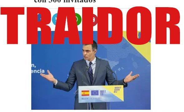 """LUNES 21 -12 h – Cacerolada a Pedro Sánchez en el Liceo. ¡Recibamos al """"indul-traidor""""!"""